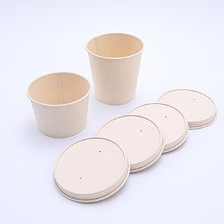 Universal disposable paper lid covers