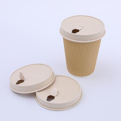 Biodegradable  paper coffee cups with lids