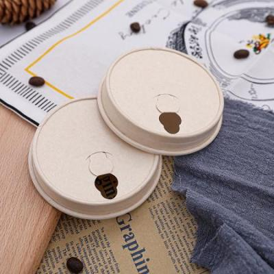 White& natural color paper drinking cup lid