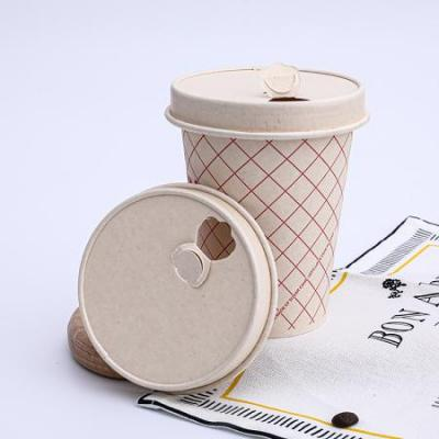 Custom paper cup with sealable paper lid cover