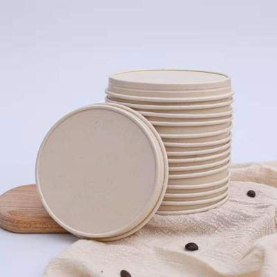 Clean disposable ice cream cup lids