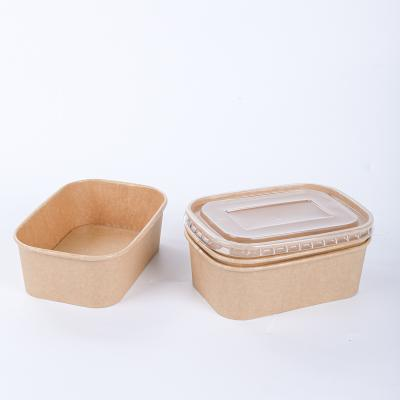 Compostable kraft paper bowls with lids