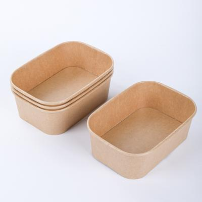 Wholesale take away kraft paper bowls with lids