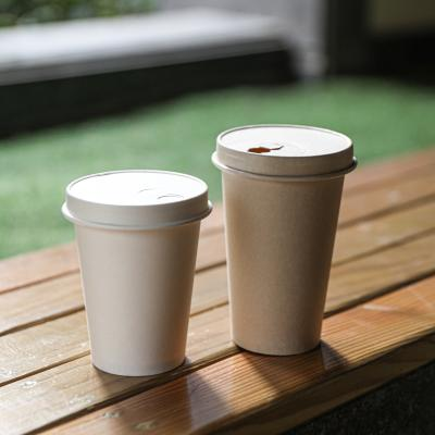 Biodegradable paper soup cups with lids