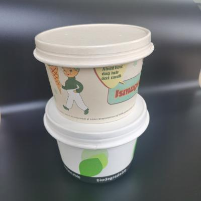 Disposable ecofriendly paper bowls with lids